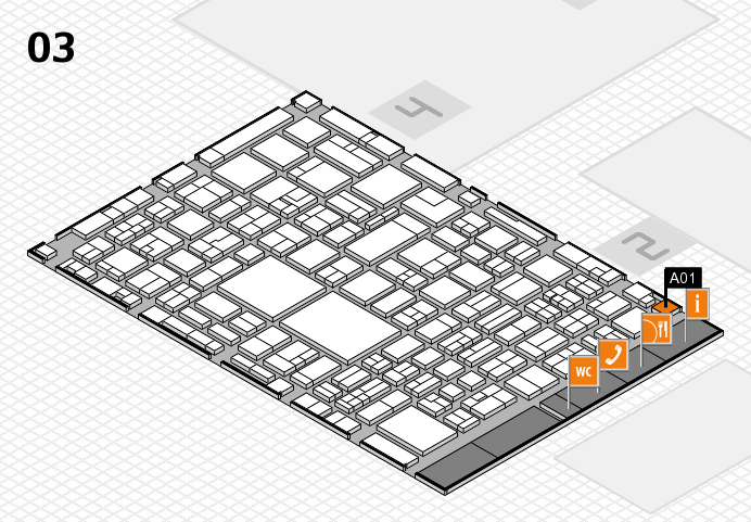 EuroShop 2017 hall map (Hall 3): stand A01