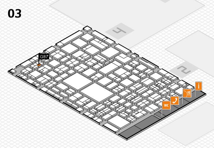 EuroShop 2017 hall map (Hall 3): stand G87