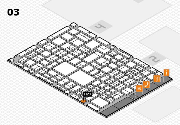 EuroShop 2017 hall map (Hall 3): stand H20