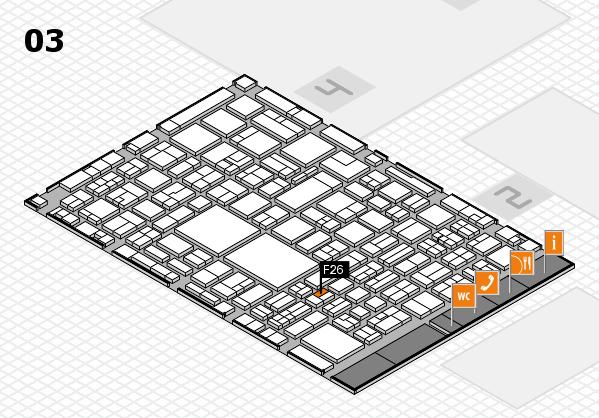 EuroShop 2017 hall map (Hall 3): stand F26