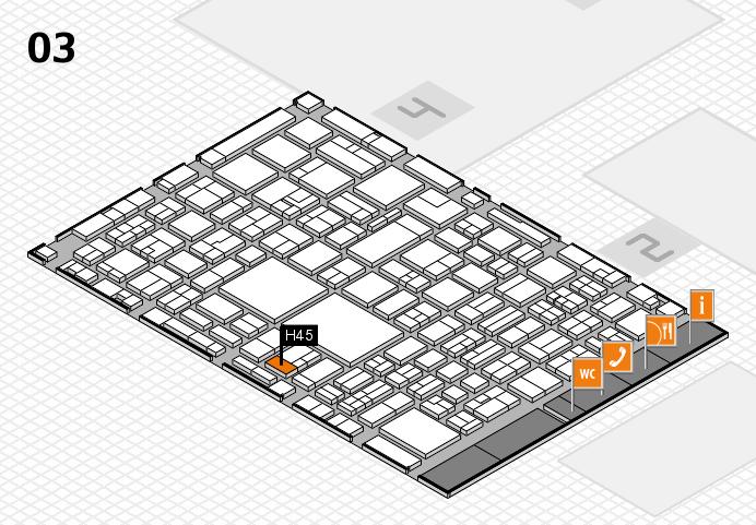EuroShop 2017 hall map (Hall 3): stand H45