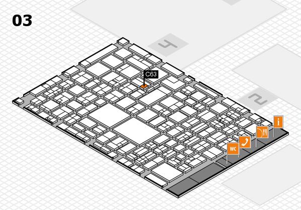 EuroShop 2017 hall map (Hall 3): stand C63