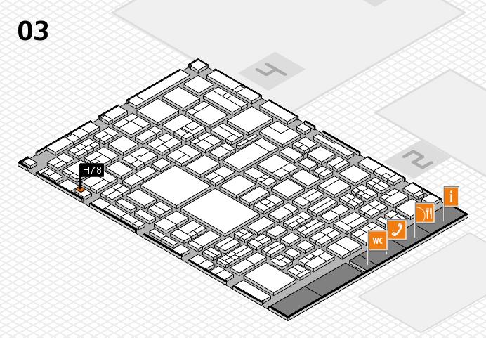 EuroShop 2017 hall map (Hall 3): stand H78