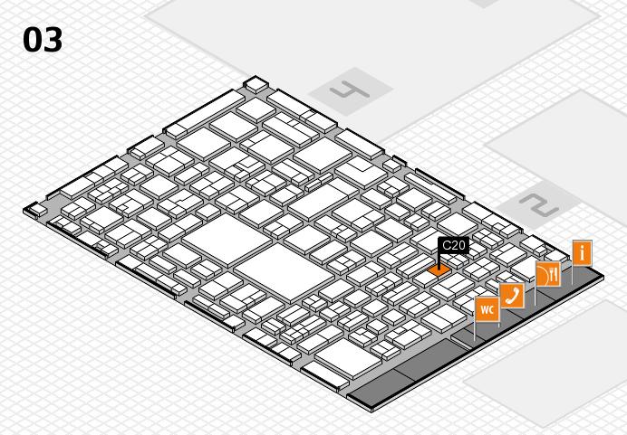 EuroShop 2017 hall map (Hall 3): stand C20