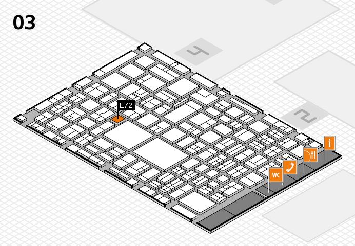 EuroShop 2017 hall map (Hall 3): stand E72