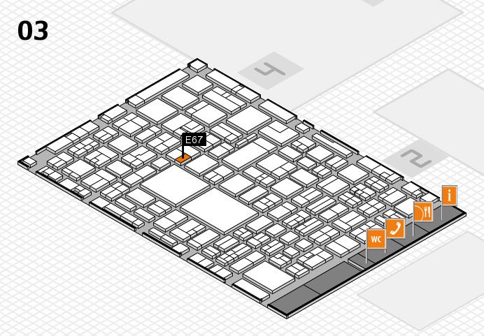 EuroShop 2017 hall map (Hall 3): stand E67