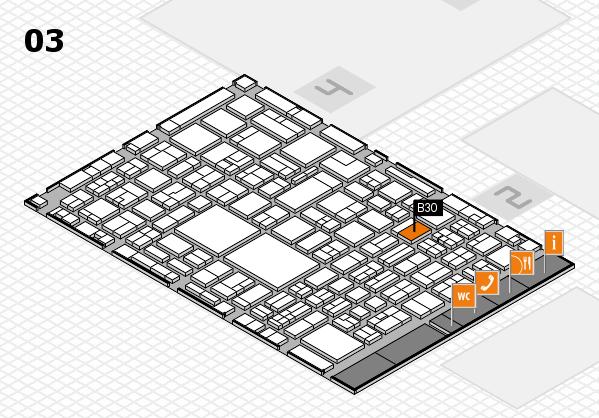 EuroShop 2017 hall map (Hall 3): stand B30