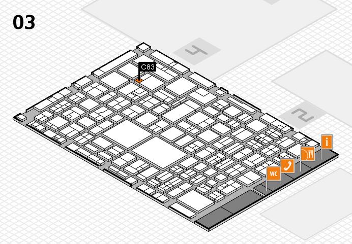 EuroShop 2017 hall map (Hall 3): stand C83