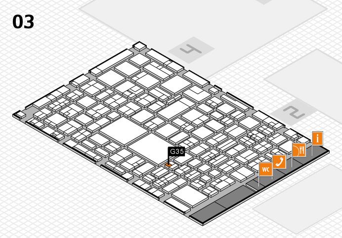EuroShop 2017 hall map (Hall 3): stand G35