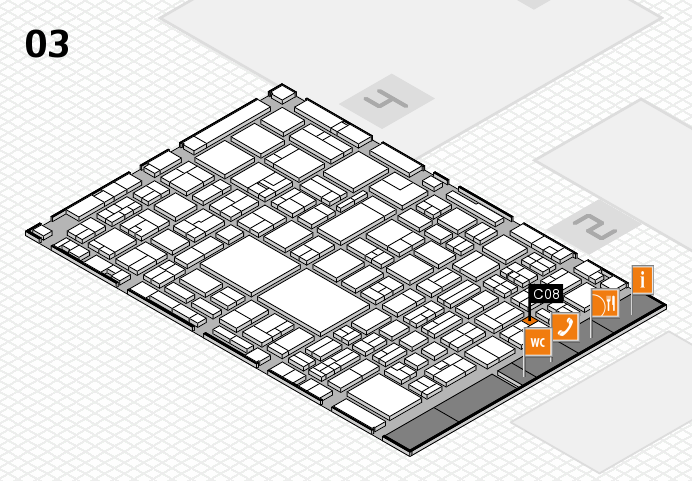 EuroShop 2017 hall map (Hall 3): stand C08