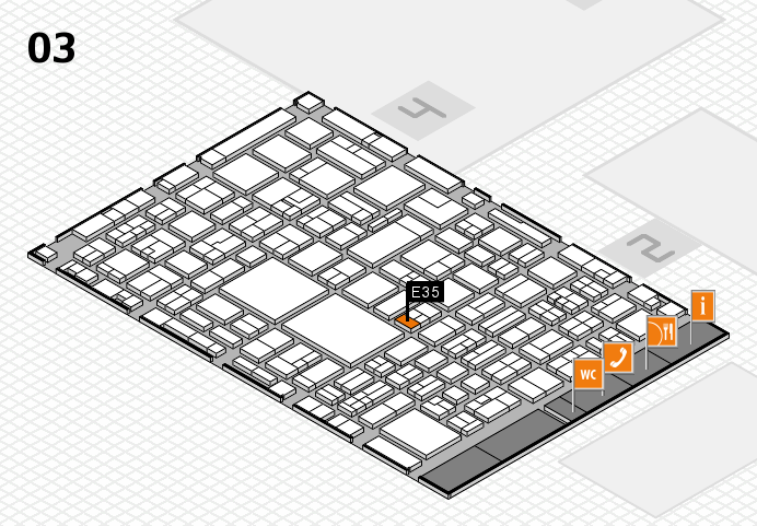 EuroShop 2017 hall map (Hall 3): stand E35