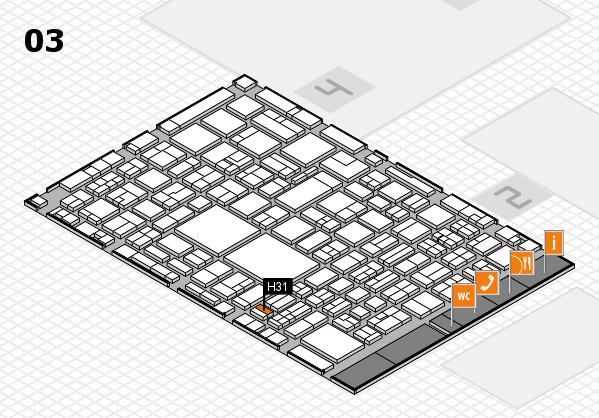 EuroShop 2017 hall map (Hall 3): stand H31