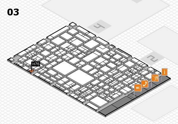 EuroShop 2017 hall map (Hall 3): stand H76