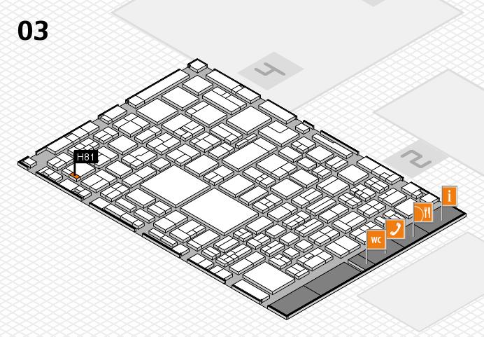 EuroShop 2017 hall map (Hall 3): stand H81