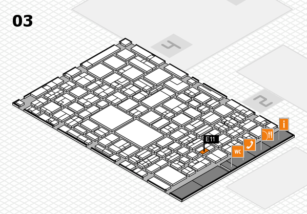 EuroShop 2017 hall map (Hall 3): stand E11