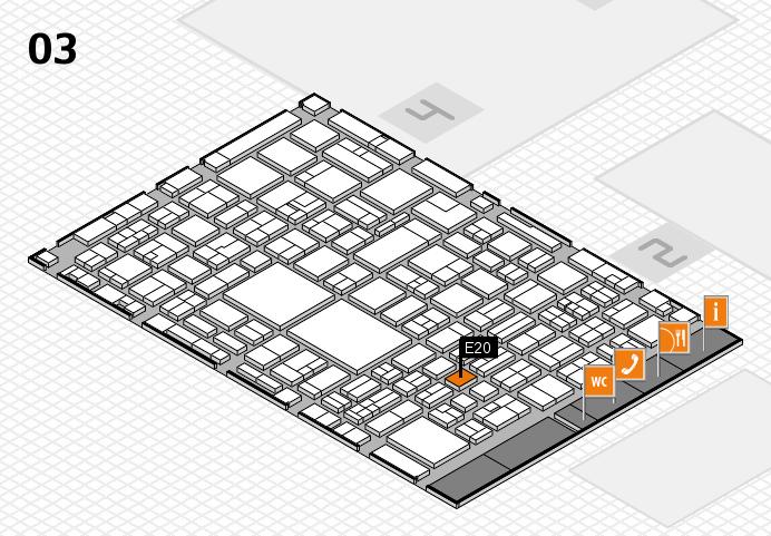 EuroShop 2017 hall map (Hall 3): stand E20