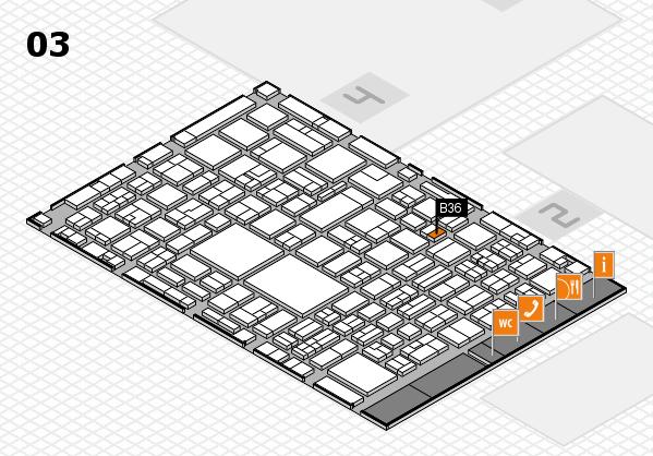 EuroShop 2017 hall map (Hall 3): stand B36