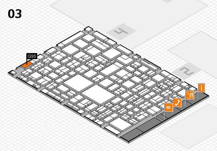 EuroShop 2017 hall map (Hall 3): stand G95