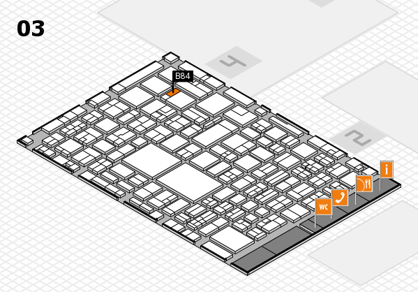 EuroShop 2017 hall map (Hall 3): stand B84