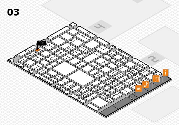 EuroShop 2017 hall map (Hall 3): stand F91