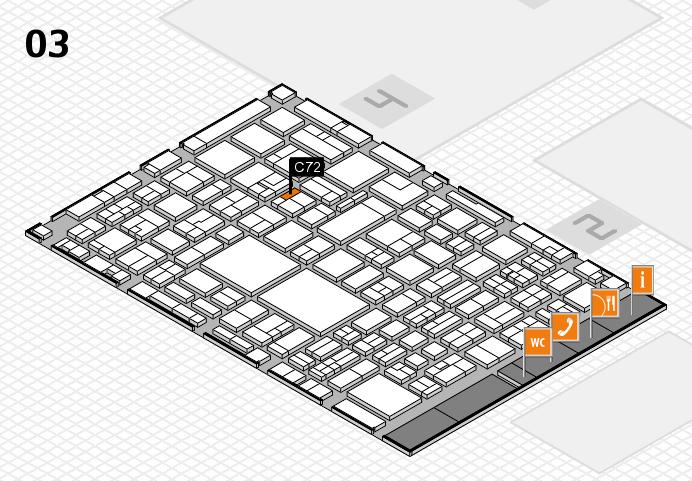 EuroShop 2017 hall map (Hall 3): stand C72