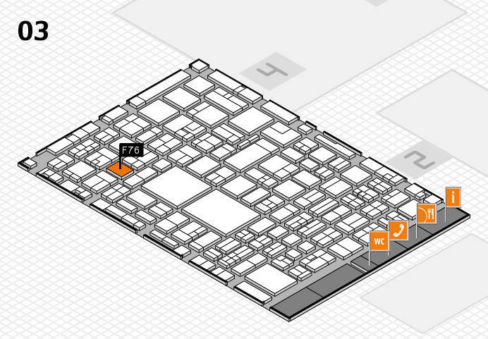 EuroShop 2017 hall map (Hall 3): stand F76