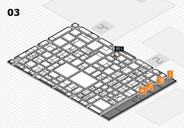 EuroShop 2017 hall map (Hall 3): stand B51