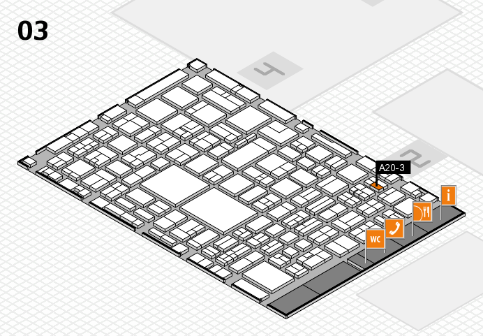 EuroShop 2017 hall map (Hall 3): stand A20-3