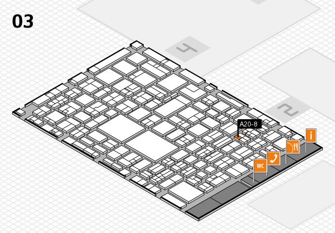 EuroShop 2017 hall map (Hall 3): stand A20-8