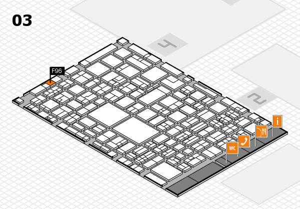 EuroShop 2017 hall map (Hall 3): stand F96