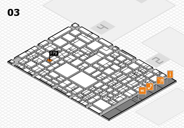 EuroShop 2017 hall map (Hall 3): stand F79