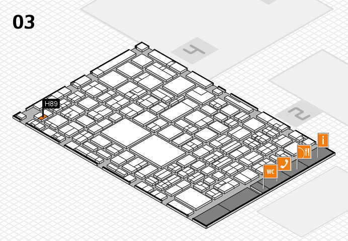 EuroShop 2017 hall map (Hall 3): stand H89