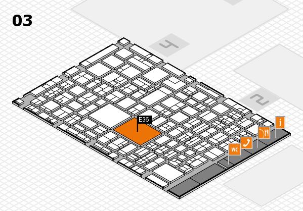 EuroShop 2017 hall map (Hall 3): stand E36
