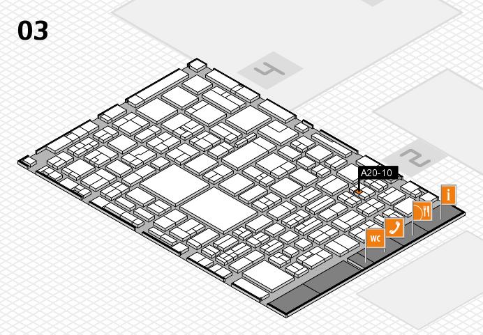 EuroShop 2017 hall map (Hall 3): stand A20-10