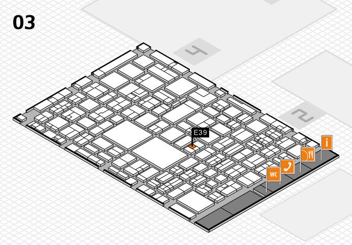 EuroShop 2017 hall map (Hall 3): stand E39