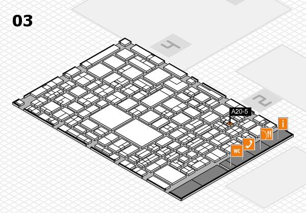 EuroShop 2017 hall map (Hall 3): stand A20-5