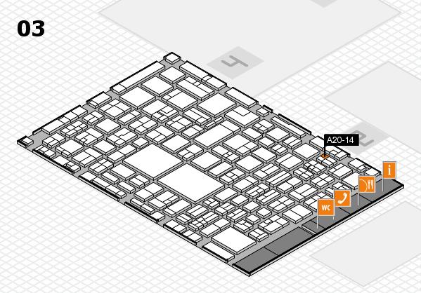 EuroShop 2017 hall map (Hall 3): stand A20-14