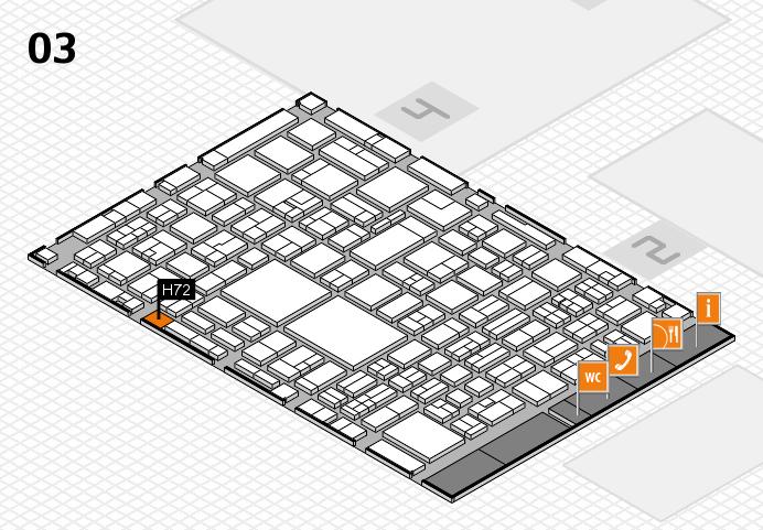 EuroShop 2017 hall map (Hall 3): stand H72
