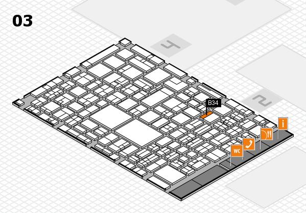 EuroShop 2017 hall map (Hall 3): stand B34