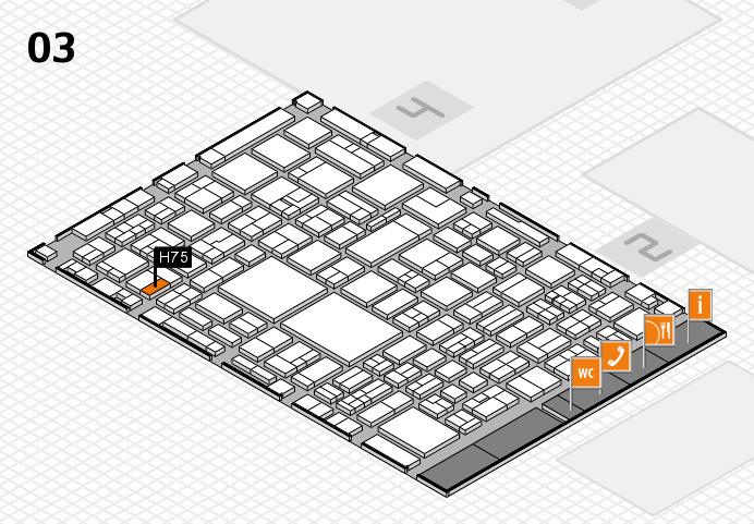 EuroShop 2017 hall map (Hall 3): stand H75