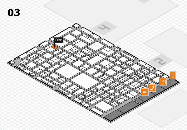 EuroShop 2017 hall map (Hall 3): stand D88