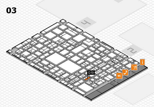 EuroShop 2017 hall map (Hall 3): stand G19