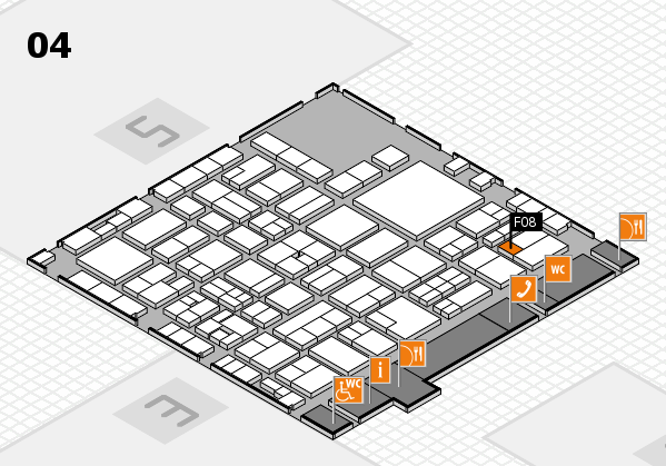 EuroShop 2017 hall map (Hall 4): stand F08