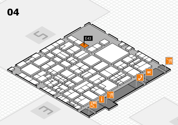 EuroShop 2017 hall map (Hall 4): stand E43