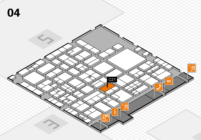 EuroShop 2017 hall map (Hall 4): stand C21