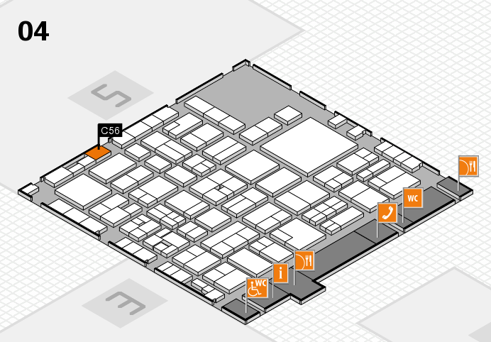 EuroShop 2017 hall map (Hall 4): stand C56