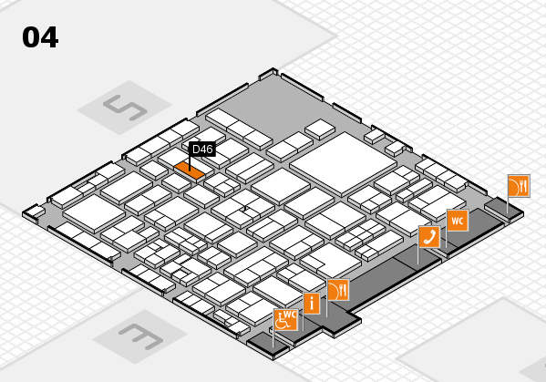 EuroShop 2017 hall map (Hall 4): stand D46