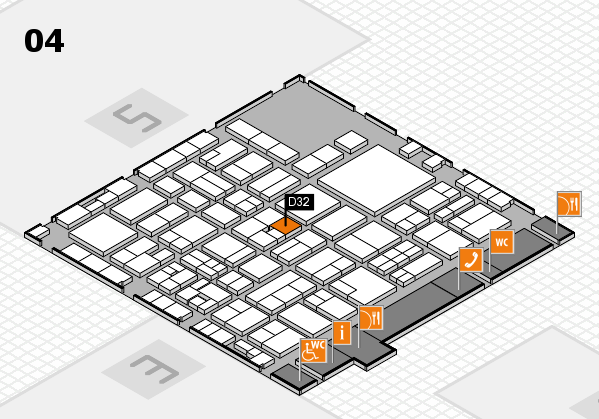 EuroShop 2017 hall map (Hall 4): stand D32