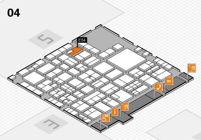 EuroShop 2017 hall map (Hall 4): stand E54