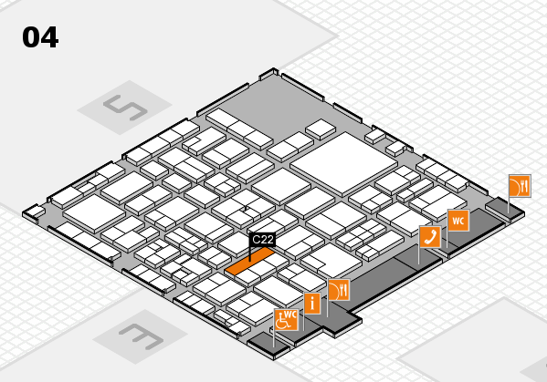 EuroShop 2017 hall map (Hall 4): stand C22